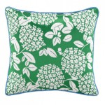 Cipriana Green pillow sky iris