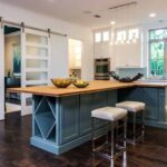 Blue kitchens